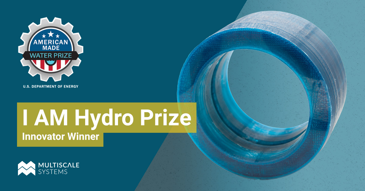 Multiscale systems awarded an Innovator Award as part of I AM Hydro prize