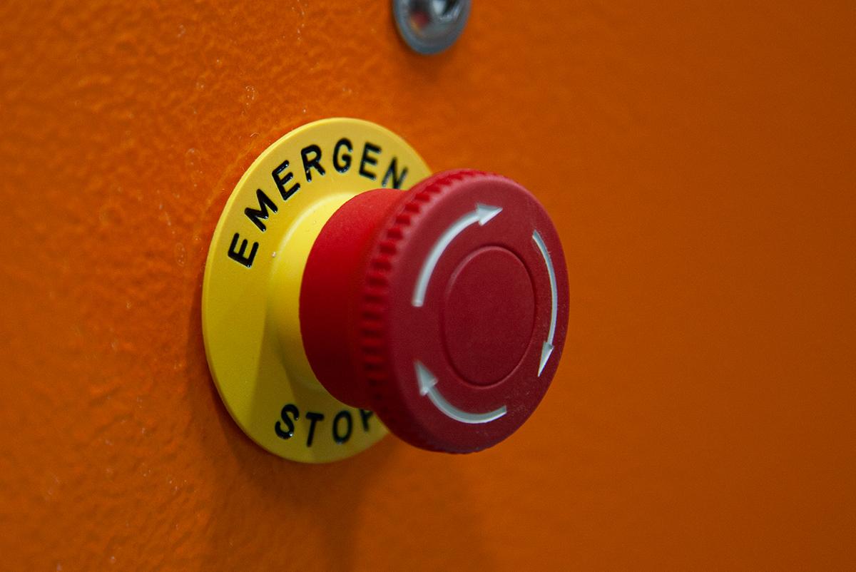 CNC emergency stop button