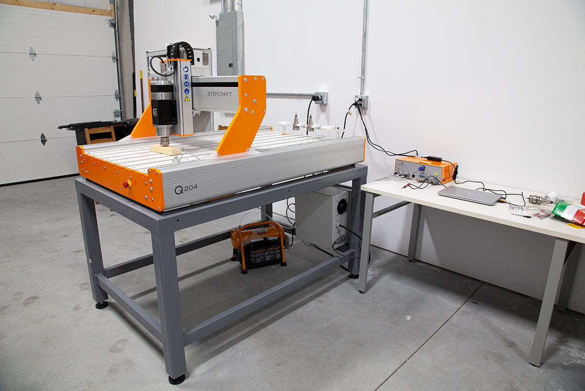 CNC machine in the workshop