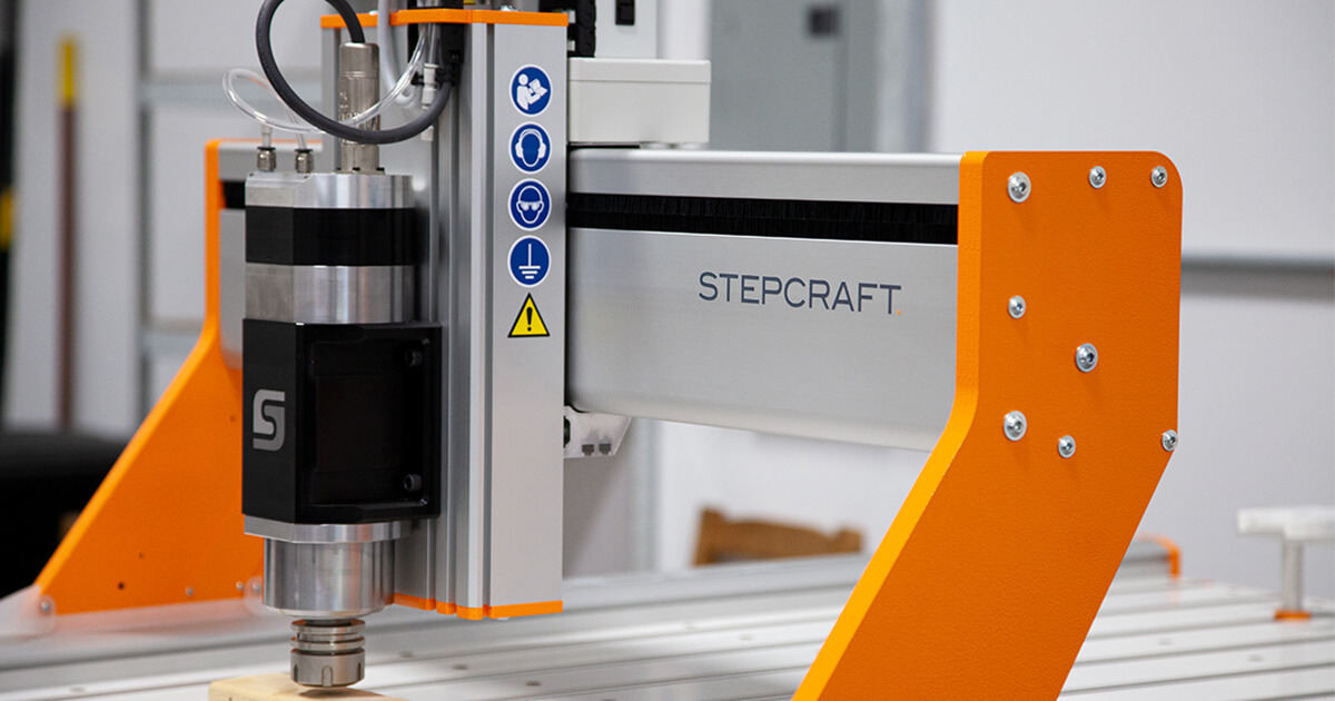 Stepcraft CNC machine in the workshop