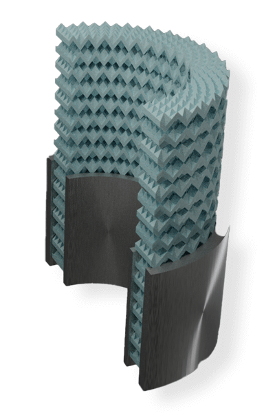 computer render of mechanical metamaterial concept