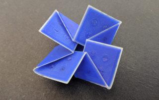 folded origami plastic sheet