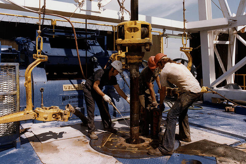crew working on a geothermal drill