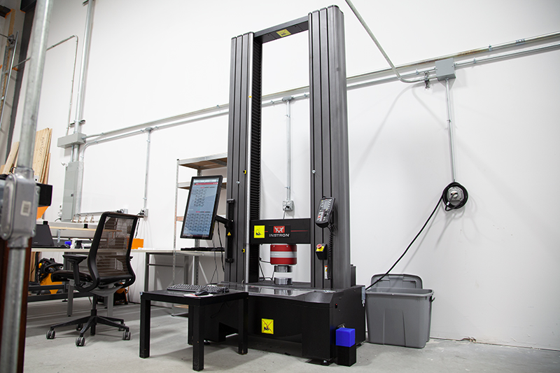 Instron mechanical tester