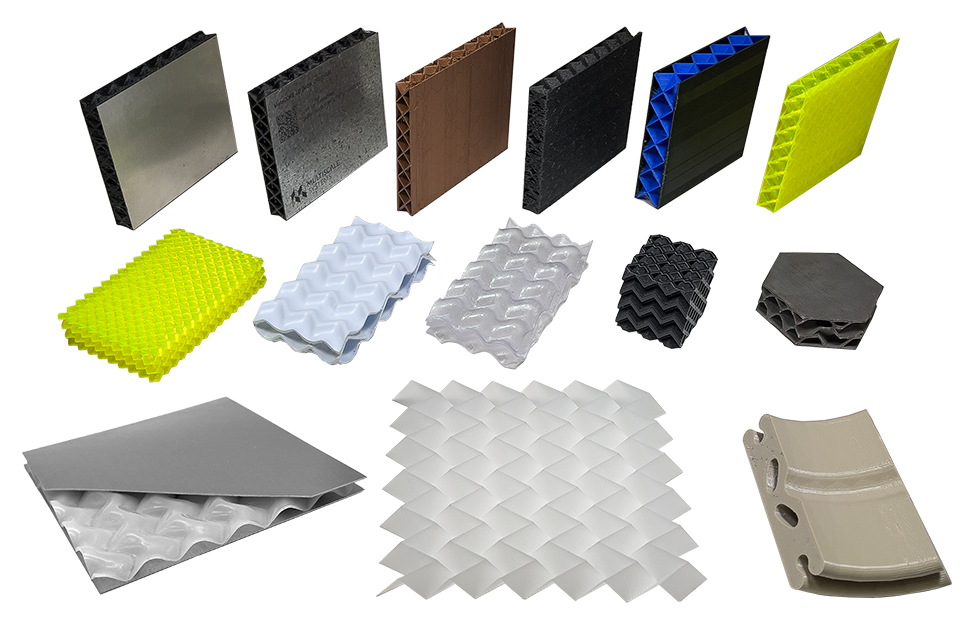 a selection of mechanical metamaterial prototypes